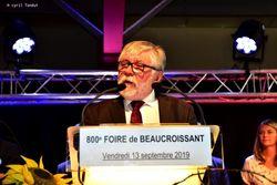 Discours inaugural pour la 800ème foire de septembre.